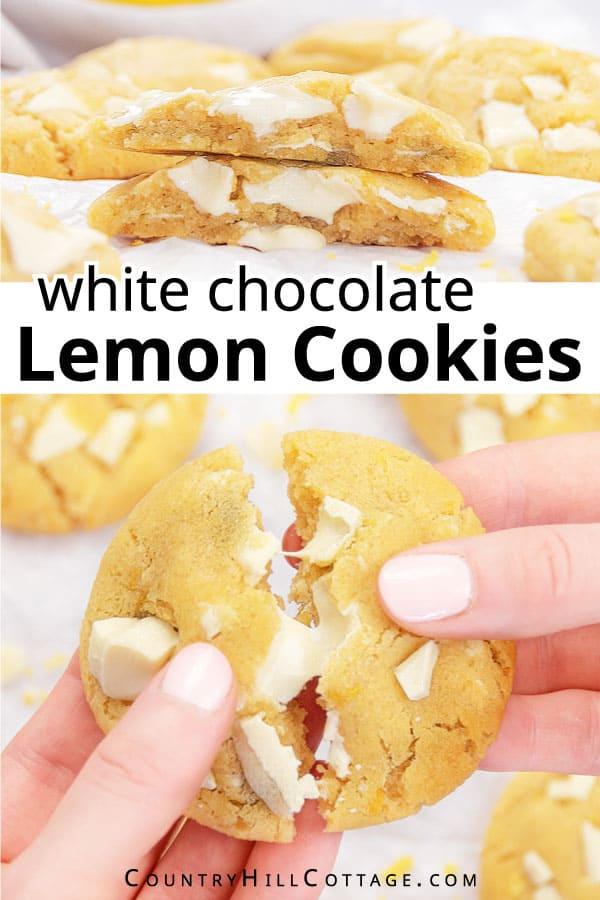 gooey lemon white chocolate cookies