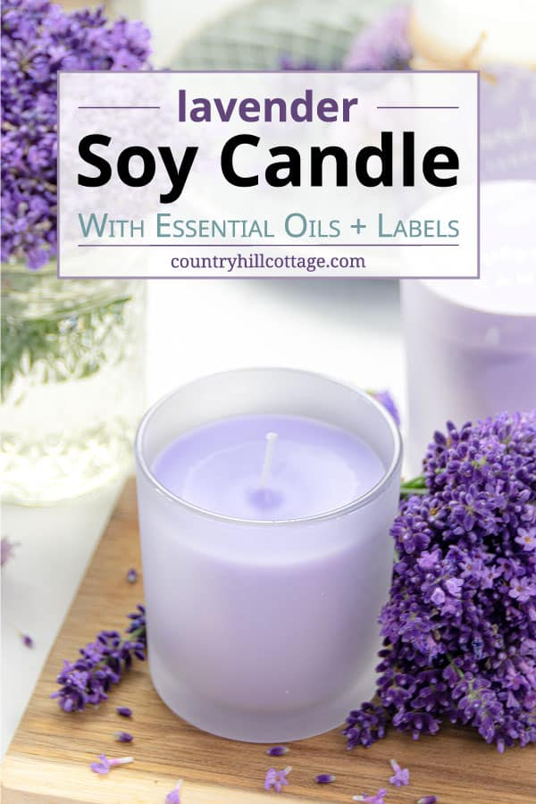 homemade lavender candle