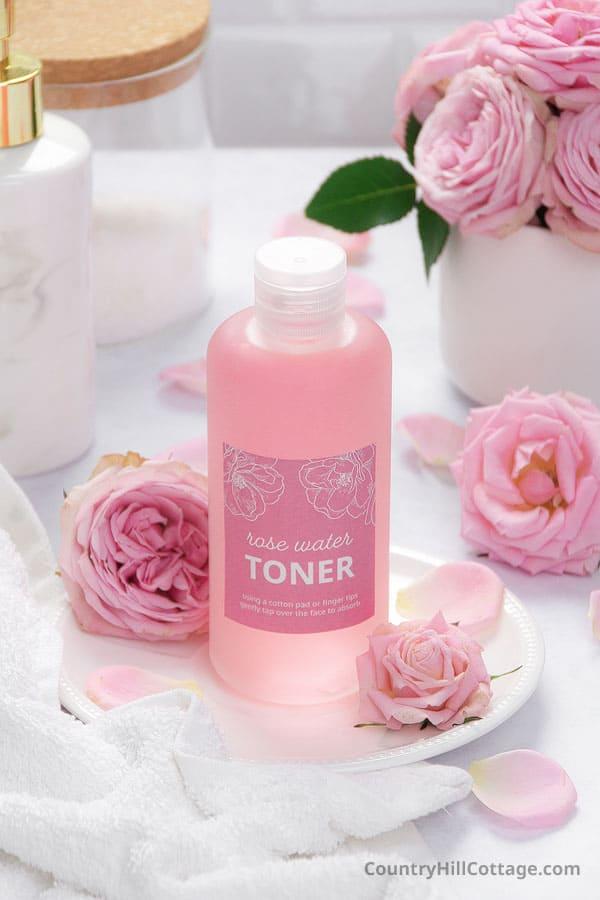 natural rose water toner