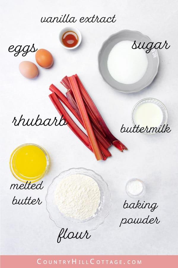 rhubarb coffee cake ingredients