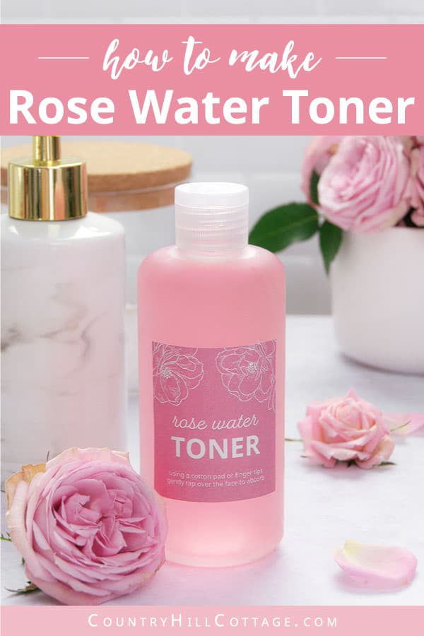 rose water facial toner