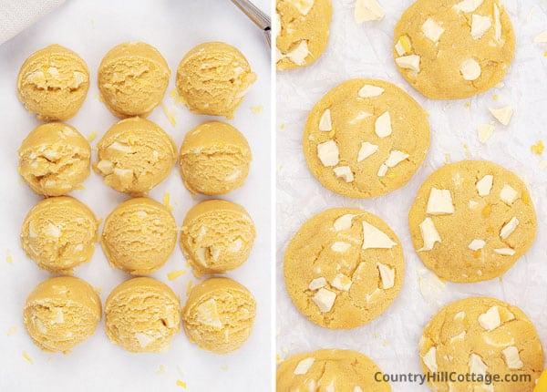 bake lemon white chocolate cookies