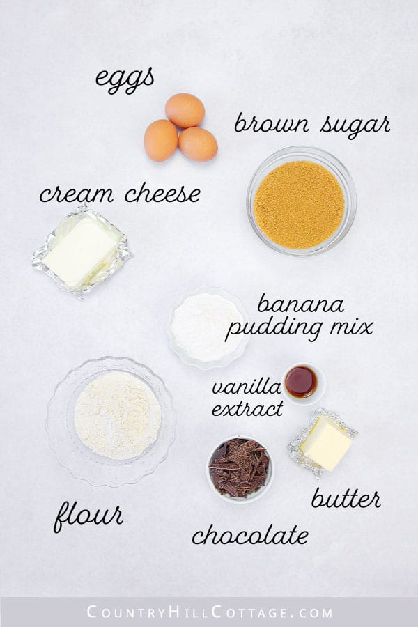 banana pudding brownie ingredients