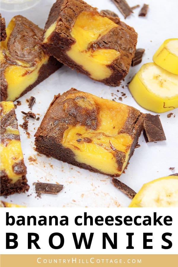 banana pudding cheesecake brownies