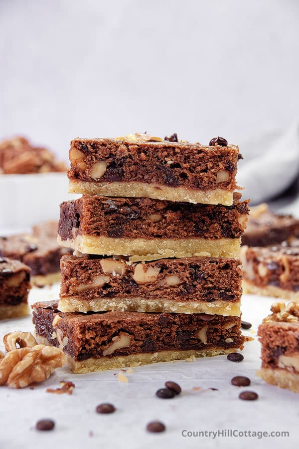 brownies with shortbread crust