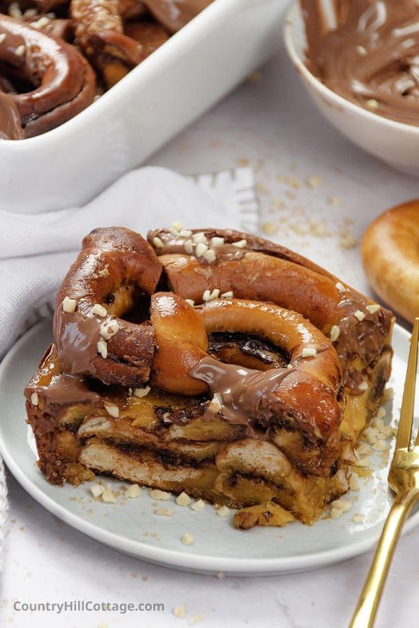 dessert with day old pretzels