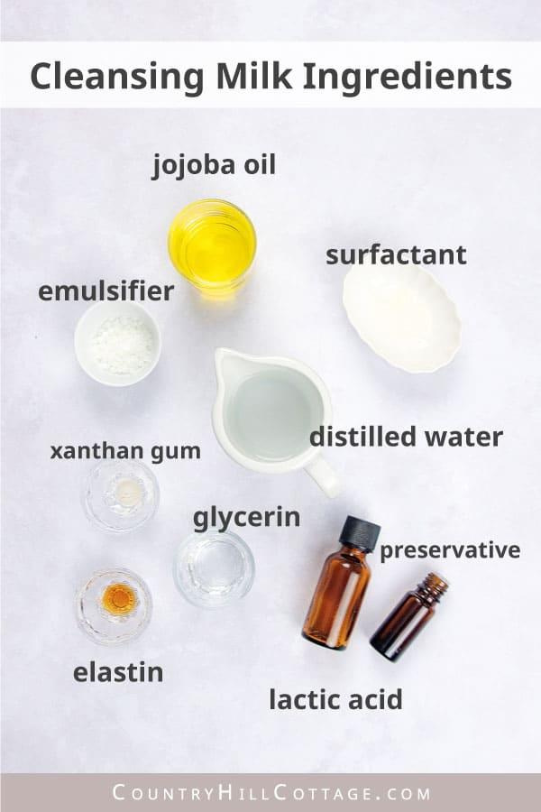 cleansing milk ingredients