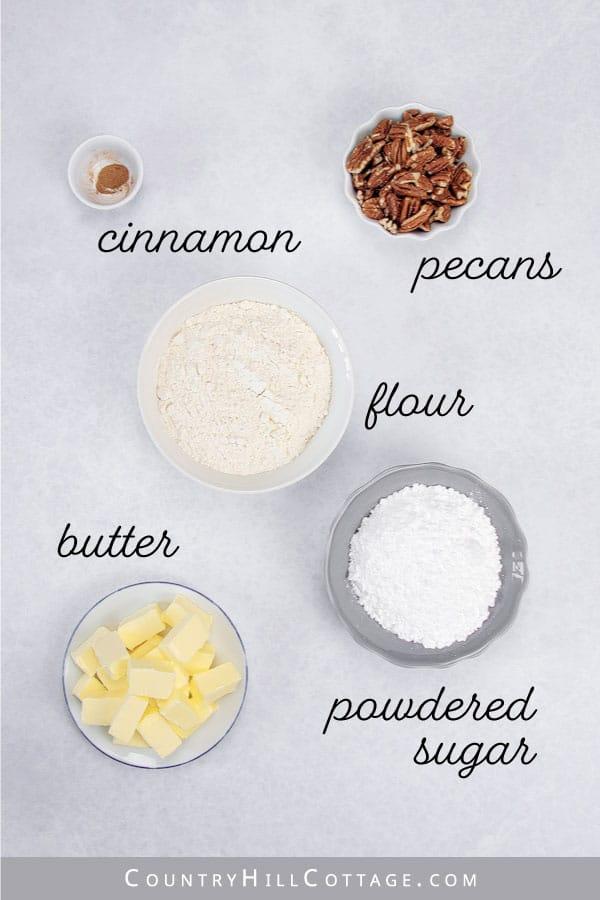 Danish wedding cookie ingredients