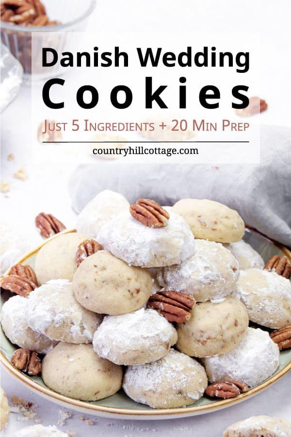 Danish wedding cookies