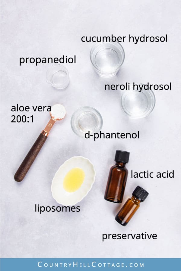 dry skin toner ingredients