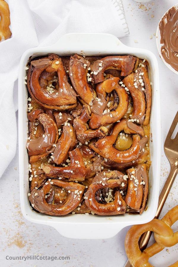 easy pretzel pudding