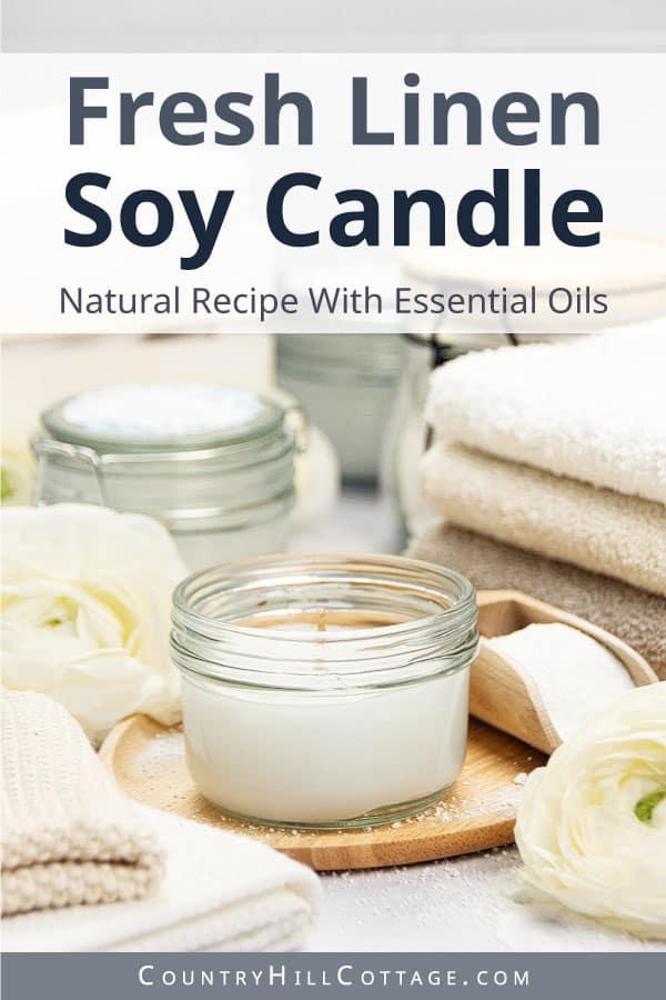 fresh linen candle recipe