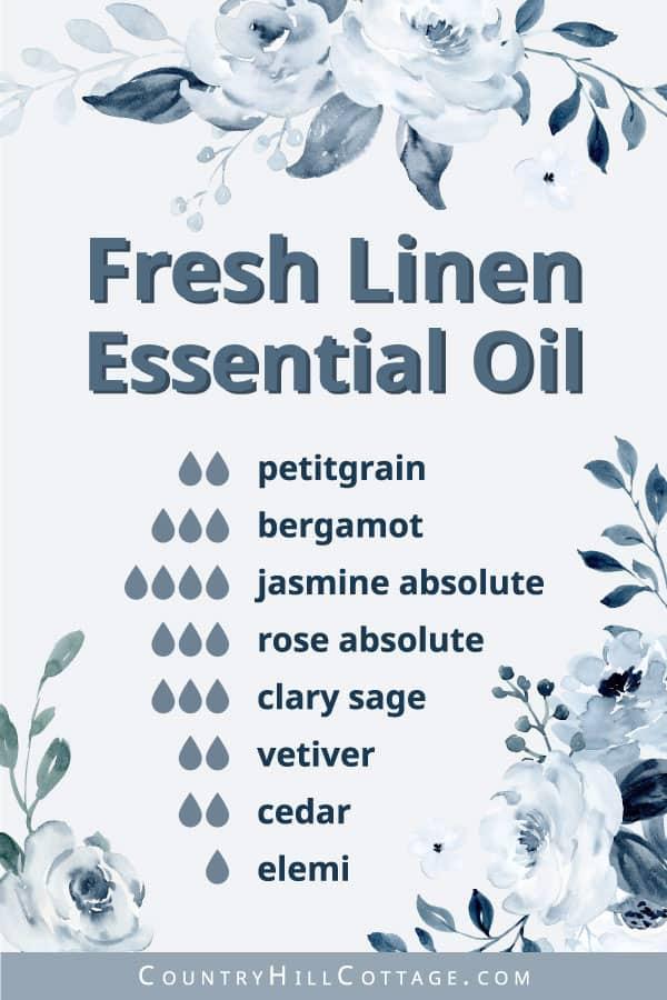 fresh linen essential oil formula