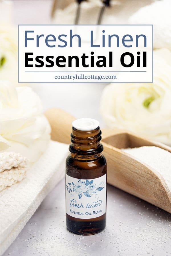 fresh linen scent essential oil recipe