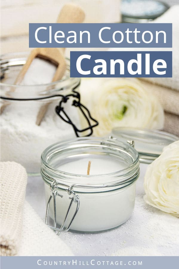 homemade clean cotton candles