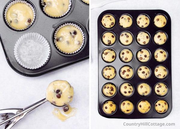 bake mini muffins