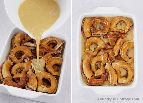 bake pretzel pudding