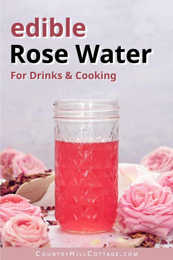 how to make rose water to drink and for cooking
