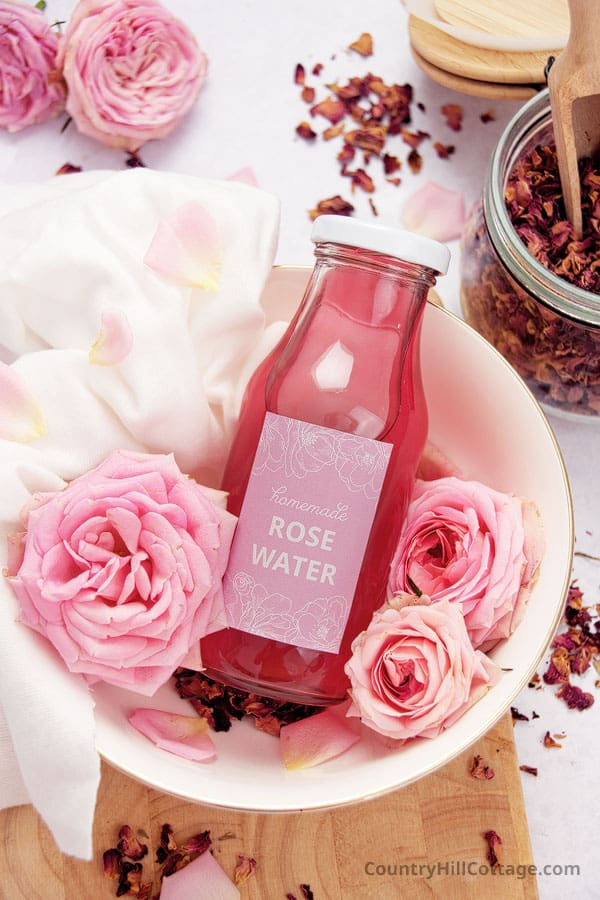 how to preserve homemade rose water