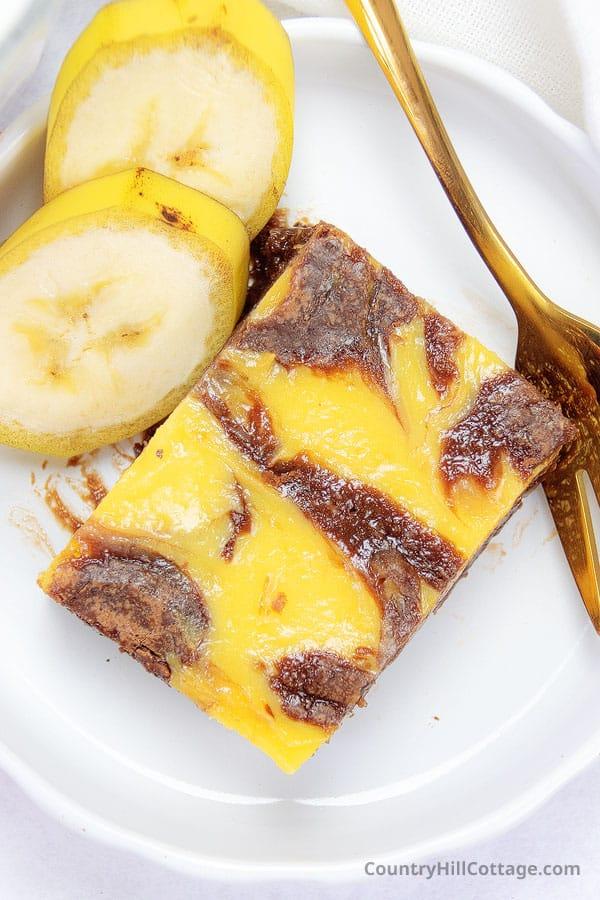 recipe for banana pudding brownies