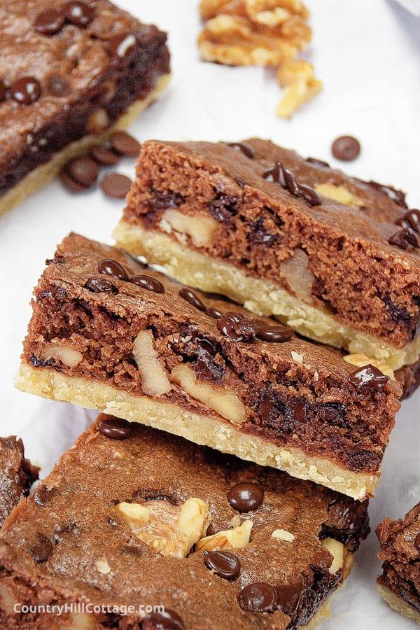 shortbread brownies recipe