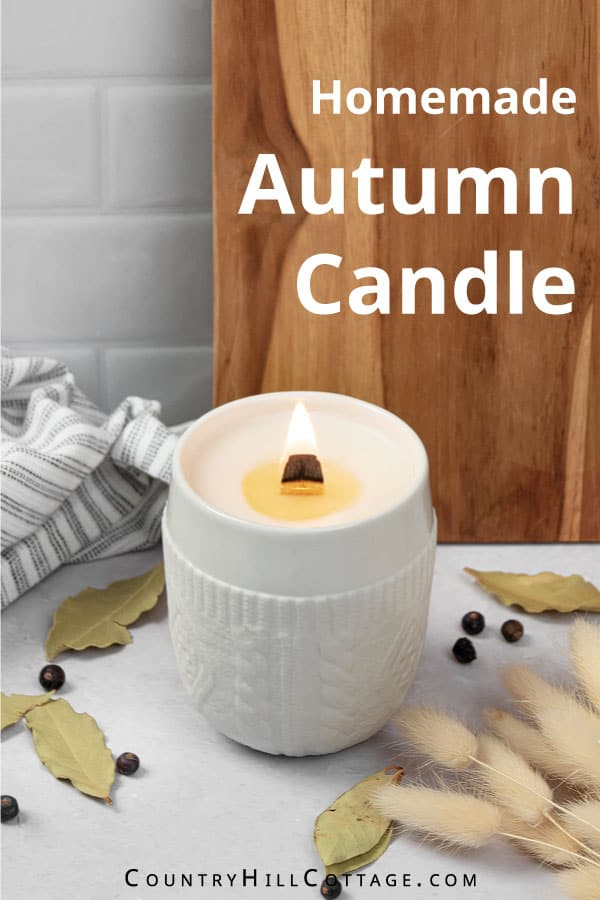 autumn candle tutorial