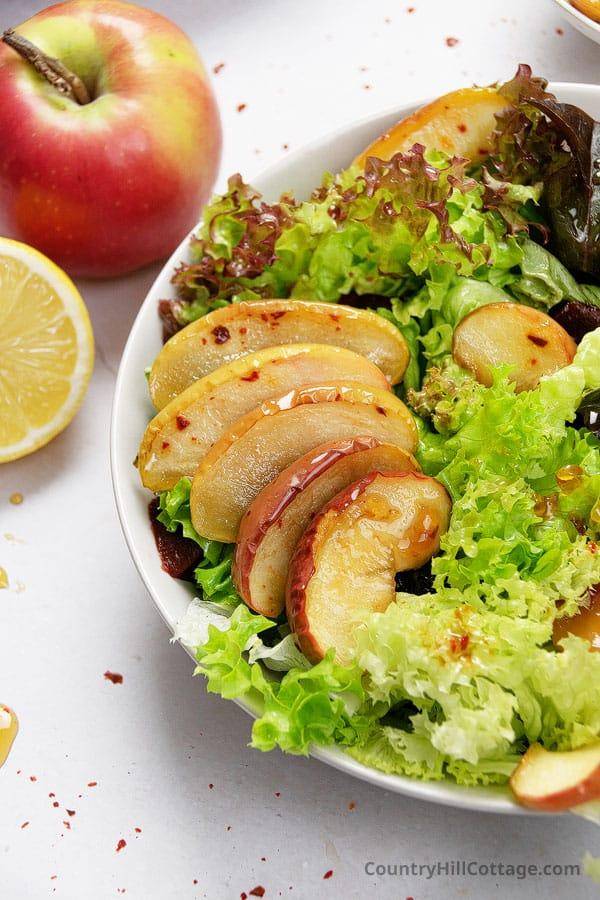 caramelized apple salad