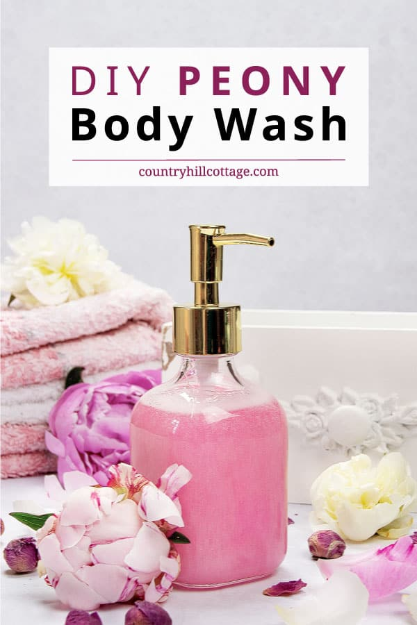 diy peony body wash