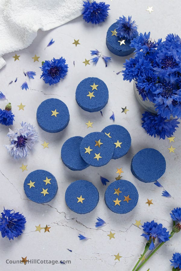 DYI shower tablets for relaxation