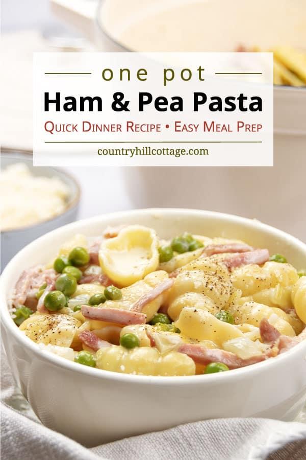 ham and pea pasta recipe