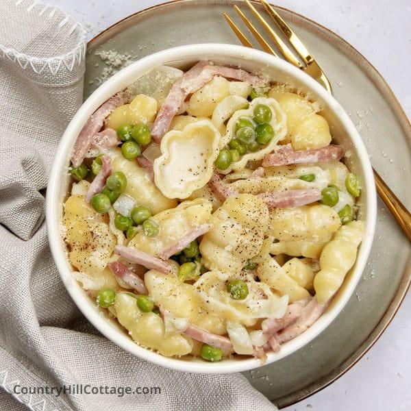 ham and peas pasta recipe