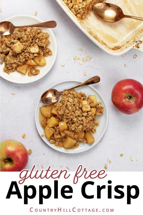 healthy gluten free free apple crisp