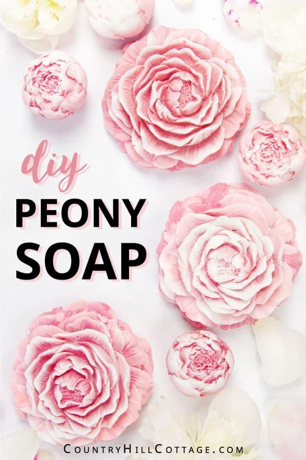 homemade peony soap