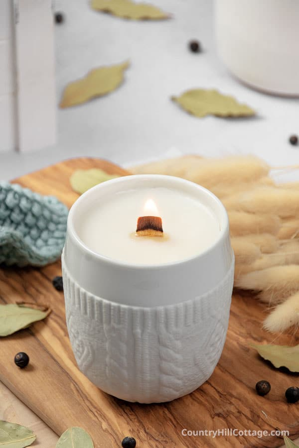 homemade sweater weather candle