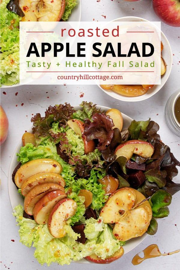 honey roasted apple salad