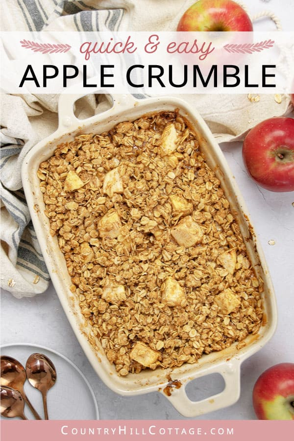 how to make gluten free apple crumble