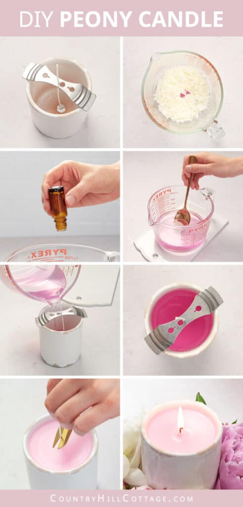 how to make peony candles step by step pictures