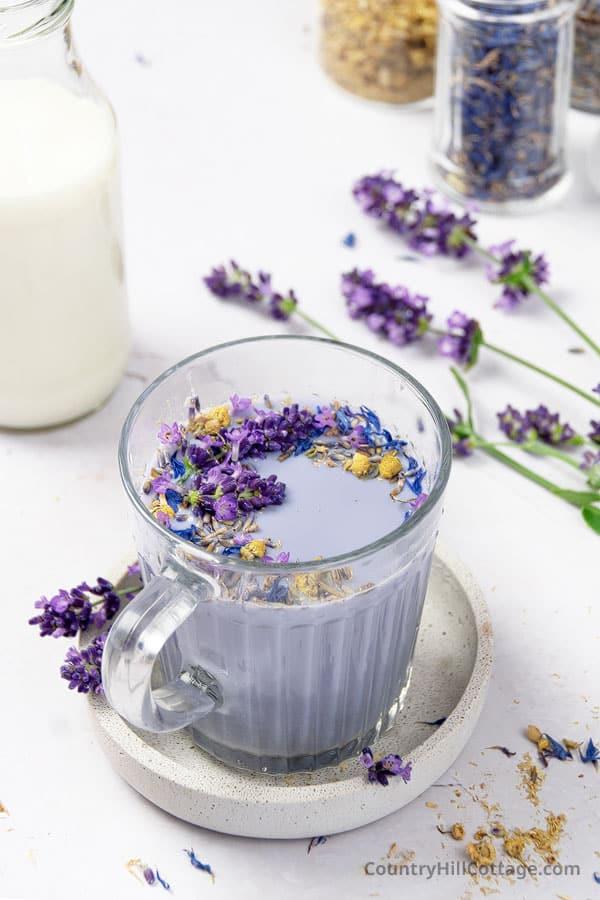 lavender infused milk