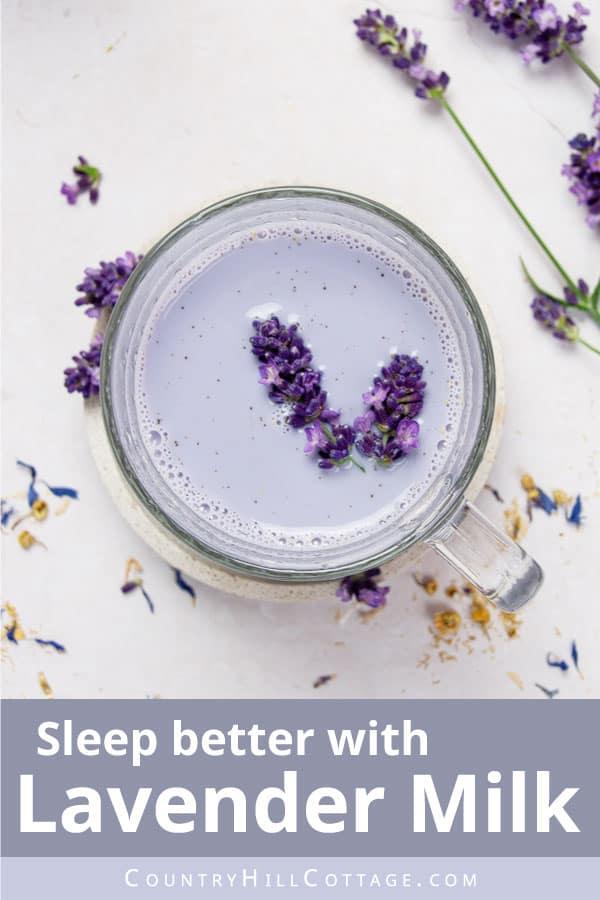 lavender milk for better sleep
