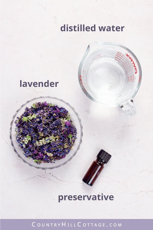 lavender water ingredients