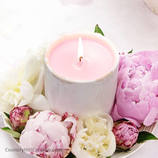 peony bloom candle