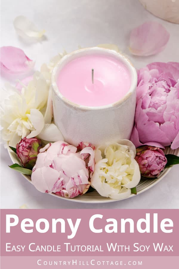 peony blossom candle