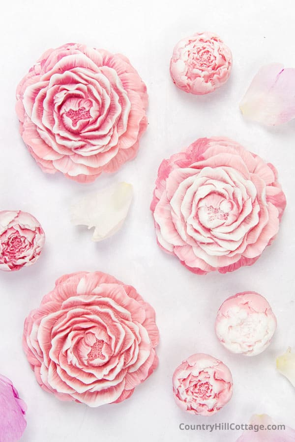 peony melt and pour soap