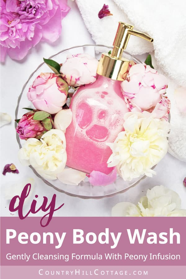 peony scented body wash