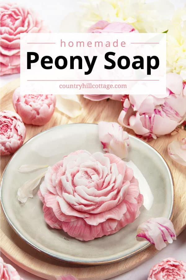 peony scented soap