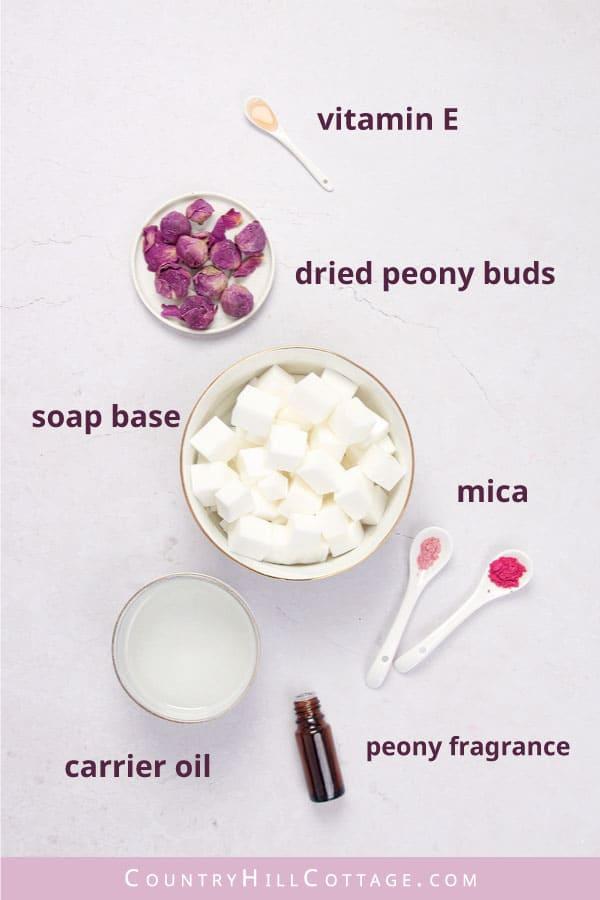 peony soap ingredients