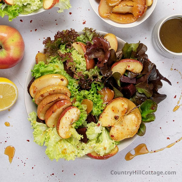 Roasted Apple Salad {with Honey and Beet}