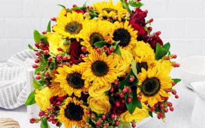 Rose and Sunflower Bouquet