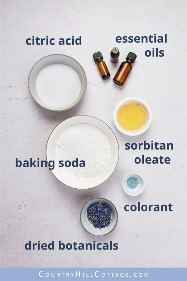 shower tablet ingredients
