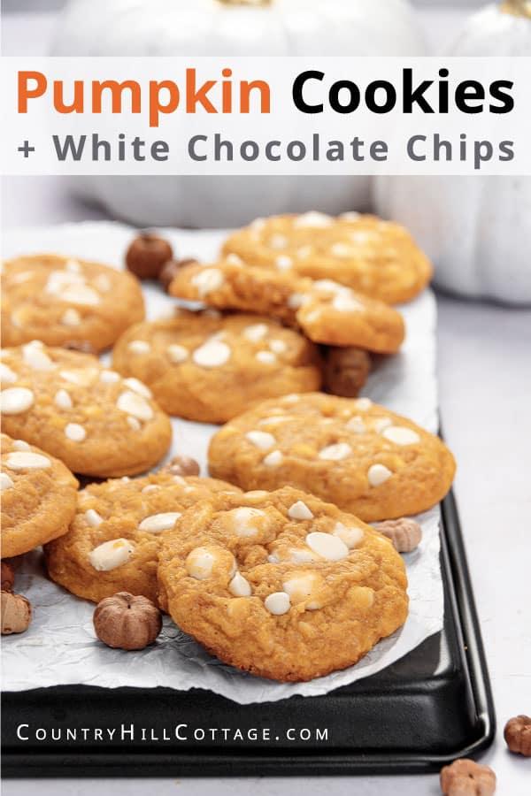 white chocolate pumpkin cookie recipe